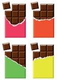grunt fält för stångchokladdjup stock illustrationer