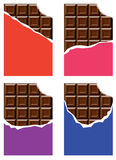 grunt fält för stångchokladdjup royaltyfri illustrationer