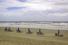 grunt fält för strandstolsdjup mycket Fotografering för Bildbyråer