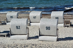 grunt fält för strandstolsdjup mycket Royaltyfri Fotografi