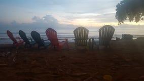 grunt fält för strandstolsdjup mycket Royaltyfri Bild