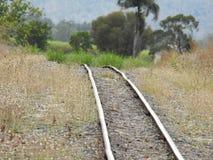 grunt spår för djupfältjärnväg Royaltyfria Bilder