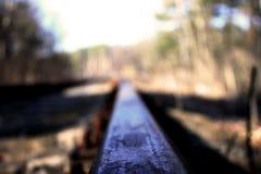 grunt spår för djupfältjärnväg Royaltyfri Fotografi