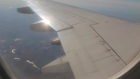 Gruntowa Jeziorna rzeka Od samolotu zbiory wideo