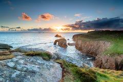 Gruntowa ` s końcówka w Cornwall Fotografia Royalty Free