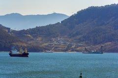 Gruntowy cywilizowanie w Gwangyang zatoce, Południowy Korea obrazy stock