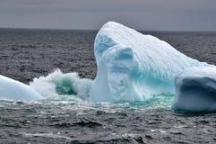 Gruntujący góry lodowa ocielenie obraz stock