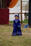 Grunwald, Польша - 2009-07-18: Маленькая принцесса стоковое изображение rf