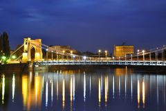 Grunwald bridge in Wroclaw. Breslau in Poland Stock Photos