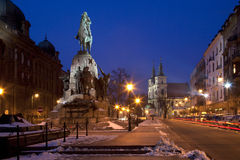 Grunwald Monument - Krakow - Poland. The Grunwald monument in Matejki Square in the city of Krakow in Poland Stock Photos
