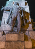 Grunwald monument at night. Plac Matejki, Krakow, Poland Stock Images