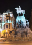 Grunwald monument at night Royalty Free Stock Photo