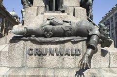 grunwald monument2零件 库存图片