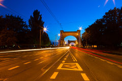 Grunwaldzki Bridge in Wroclaw Royalty Free Stock Photos