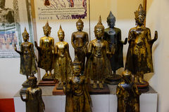 A gruop of buddha images from 13th century Stock Photos