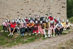Grup av pojkar och flickor Fotografering för Bildbyråer