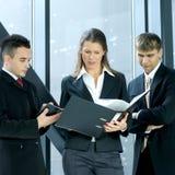 grup biznesowych osoby trzy potomstwa Zdjęcia Stock
