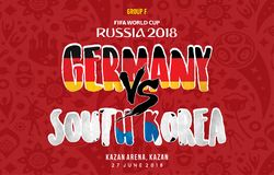 World Cup Grup f germany vs south korea russia 2018. A schedule grup F world cup 2018, germany vs south korea royalty free illustration