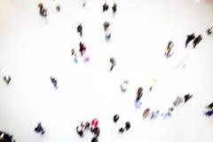 Grup ludzi ruszać się, rozmyty Obrazy Royalty Free