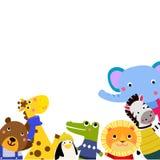 Grupa śliczni zwierzęta ilustracja wektor