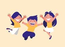 Grupa śliczny dzieci świętować ilustracji