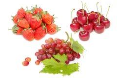 Grupa świeża czerwona owoc dla zdrowego odżywiania Fotografia Royalty Free