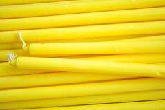Grupa Żółta świeczka Obrazy Royalty Free