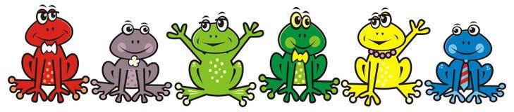 Grupa żaby ilustracja wektor