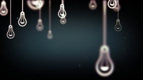 Grupa żarówka kształtuje symbole Obraz Royalty Free