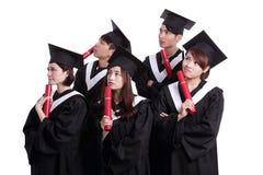 Grupa absolwenta ucznia myśl Zdjęcie Royalty Free