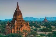 Grupa antyczna świątynia w Bagan, Myanmar Fotografia Stock