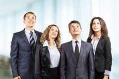 Grupa atrakcyjny i pomyślny biznes Zdjęcia Stock