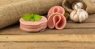 Grupa baloney kiełbasa zdjęcia stock