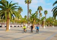 Grupa bicyclist Zdjęcia Royalty Free