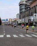 Milano miasta maraton Zdjęcia Royalty Free