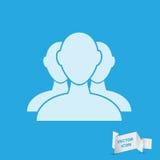 Grupa biznesmen ikona Obrazy Stock
