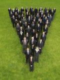 Grupa Biznesowa W trójbok formaci zdjęcie stock