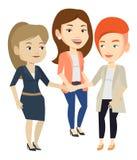 Grupa biznesowe kobiety łączy ręki ilustracji