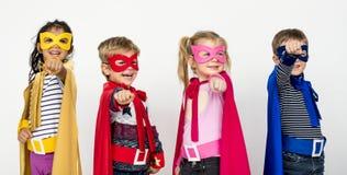 Grupa bohatera dzieciak wpólnie Fotografia Royalty Free