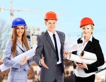 Grupa budowniczych pracownicy obrazy royalty free