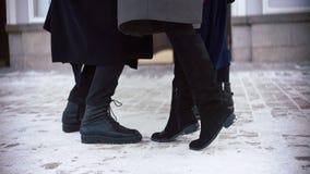 Grupa buty ludzie spotkania zdjęcie wideo