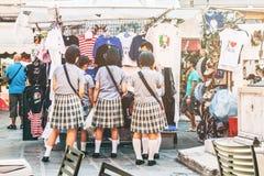 Grupa Chińscy turyści w Wenecja zdjęcie royalty free