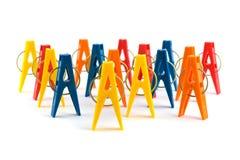 Grupa clothespins Zdjęcie Stock