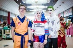 Grupa cosplayers przy Birmingham MCM fotografia stock
