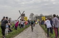 Grupa cykliści - Roubaix 2018 Zdjęcie Stock