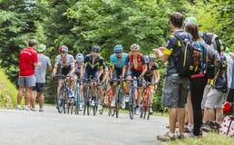 Grupa cykliści - tour de france 2017 Obraz Royalty Free