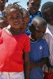 Grupa czarny afrykanin żartuje uśmiecha się kamera, Namibia Obraz Stock