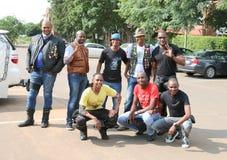 Grupa czarnych afrykanów członkowie przy Coroczną Mszalną przejażdżką Zdjęcia Stock