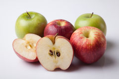 Grupa czerwieni i zieleni jabłko Zdjęcie Stock