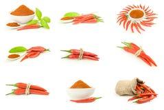 Grupa czerwonego chili pieprze Zdjęcie Royalty Free